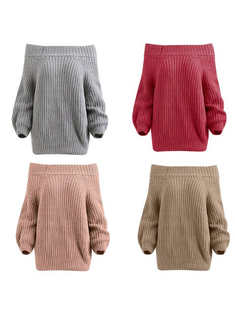 Women Sweaters Long Sleeve Off Shoulder Sexy Casual Sweaters