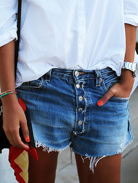 Buttoned Down Plus Size Shorts Pants