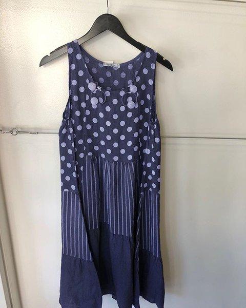 Plus Size Boho Mini Dresses Women Summer Crew Neck Sleeveless Dresses
