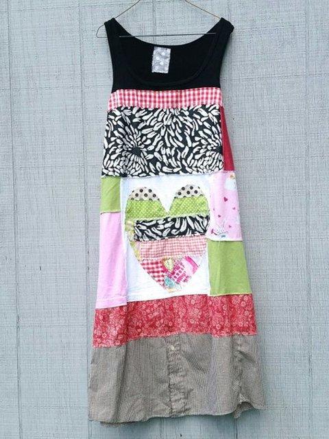 Crew Neck Women Summer Dresses Shift Linen Dresses