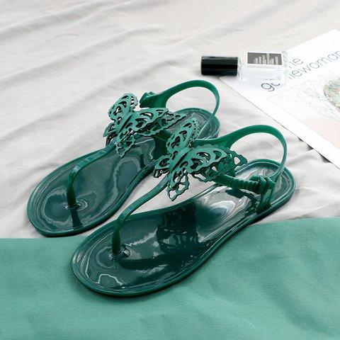 Flip Flops Butterfly Flat Thong Sandals