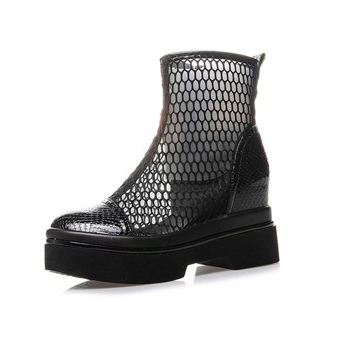 Sexy Mesh Hollow Out Booties Casual Comfort Shoes