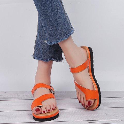 Toe Ring Slip On Flat Summer Slippers