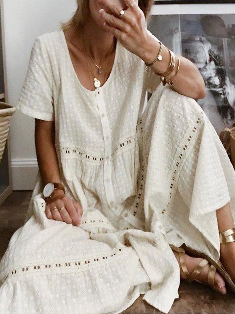 Plus Size Casual Short Sleeve Dresses