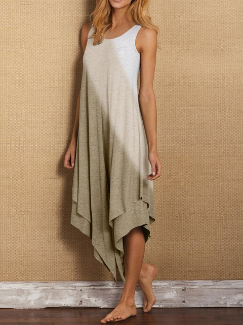 Sleeveless gradient Casual Dresses
