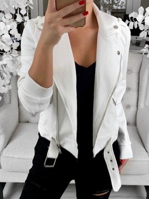 Plus Size Women Jackets Lapel Statement Outerwear