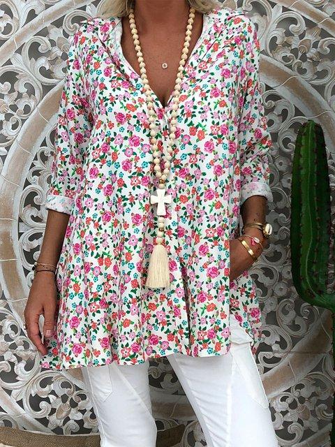 Floral-Print Casual Shirts & Tops