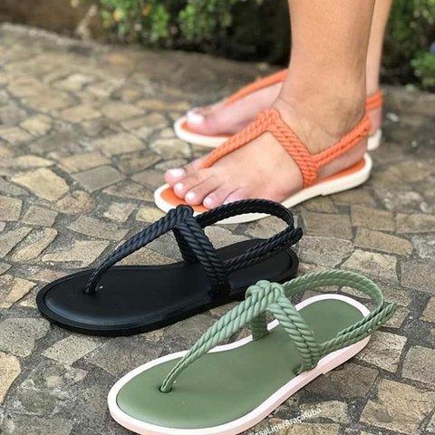 Flat Flip Buckle Flop Summer Sandals Strap mNvnOw80