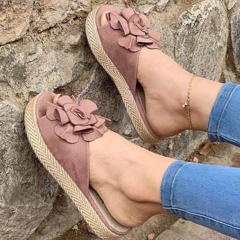 Women Casual Summer Flower Platform Sandals