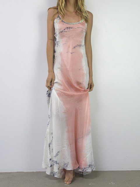 exquisite style exclusive deals new images of Plunging Neck Pink Daytime Sexy Floral Maxi Dresses