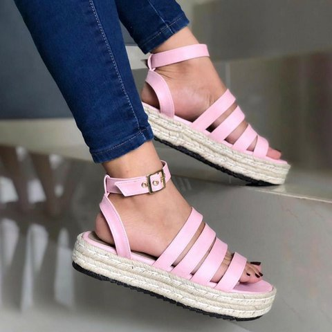 2464053ed95 Plus Size Espadrille Peep Toe Creepers Wide Fit Sandals