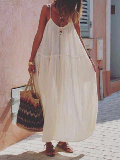 Large size loose bohemian dress