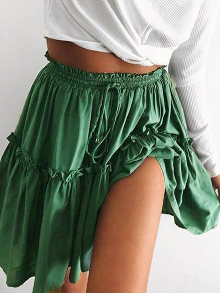 4Colors Ruched Paneled Skirts