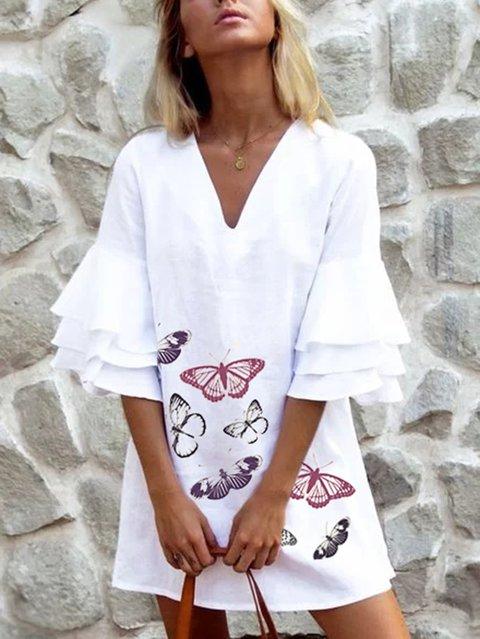 Holiday Linen Half Sleeve Dresses