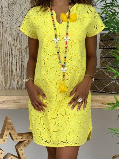 11531c55fc Justfashionnow Party Dresses Floral Dresses Holiday V Neck Short Sleeve  Beach Laser Cut Dresses