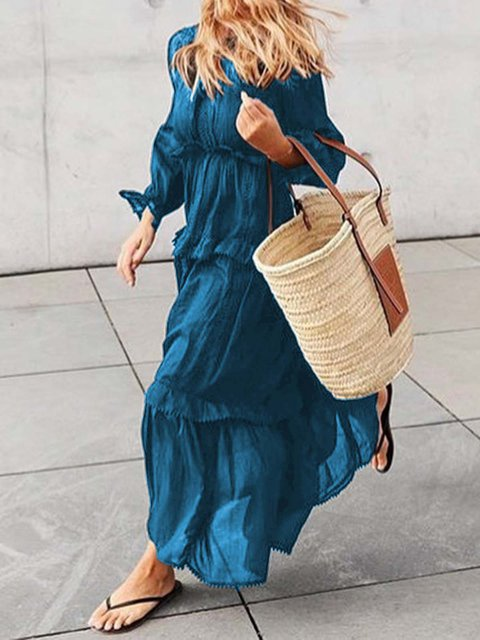 Tiered Lightweight Long Sleeve Top Skirts
