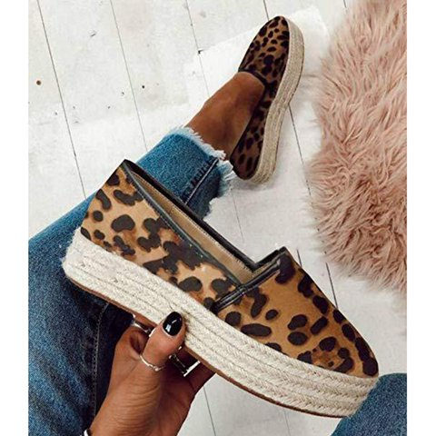 Plus Size Espadrille Wide Fit Slip On Creepers Sneakers