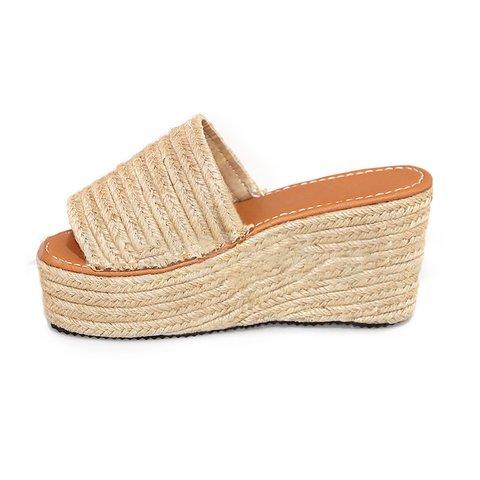 9147bbac7fb Plus Size Espadrille Peep Toe Wedge Wide Fit Sandals