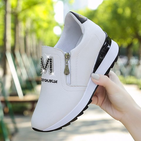Platform Trainers Slip On Warm Sneakers