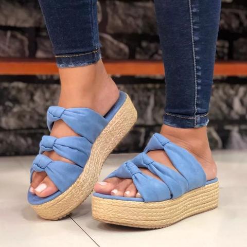 51997db0794 Faux Suede Platform Sandals Slip On Fashion Espadrille Shoes