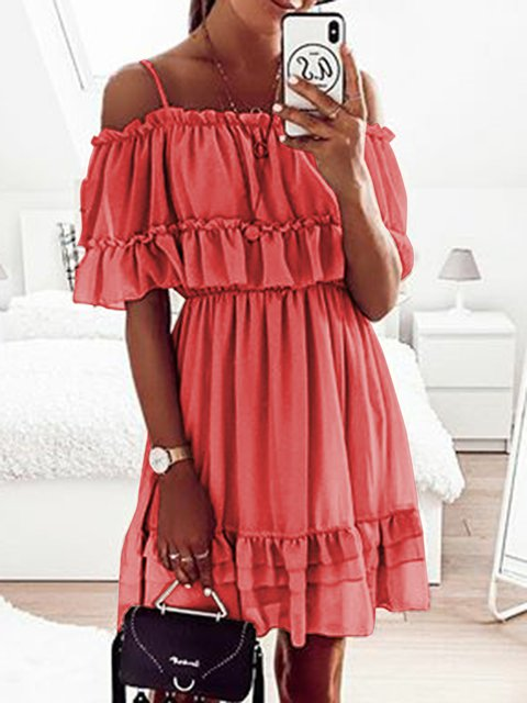 Plus Size Maxi Summer  Dresses Off Shoulder Women Dresses Shift Date Casual Dresses