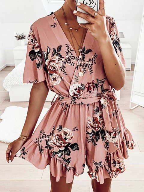 Plus Size Maxi Summer Women Dresses Shift Beach Cotton-Blend Floral Dresses