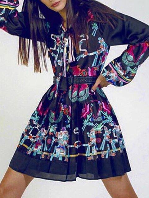 Plus Size Maxi Dresses Crew Neck Women Dresses A-Line Daily Casual Floral-Print Dresses