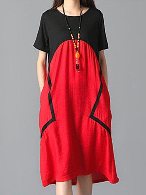 Crew Neck Women Summer Dresses Casual Dresses