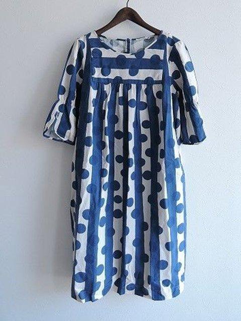 Crew Neck Women Summer Dresses Ruffled Dresses