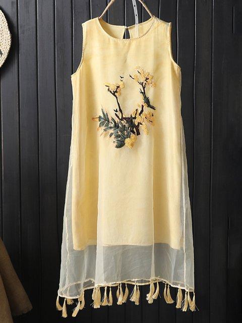 Yellow Women Dresses Shift Casual Casual Paneled Dresses