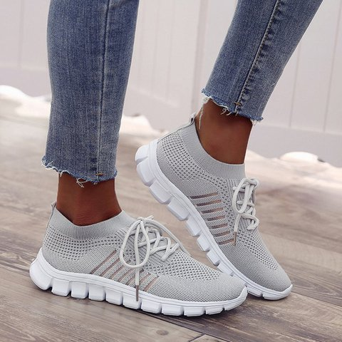 New Fashion Platform Sport Shoes Large Size Breathable Women's Sneakers