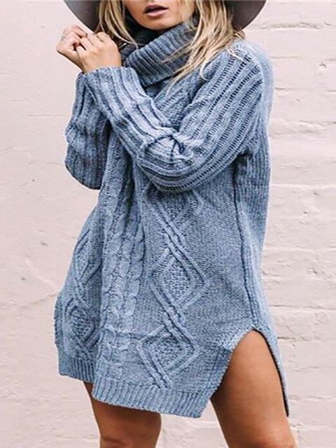 Loose Fit Turtleneck Women Fall Warm Long Sweaters