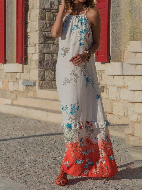 2a1de2186e89 Justfashionnow Casual Dresses 1 Floral Dresses Beach Shift Halter Sleeveless  Casual Paneled Dresses