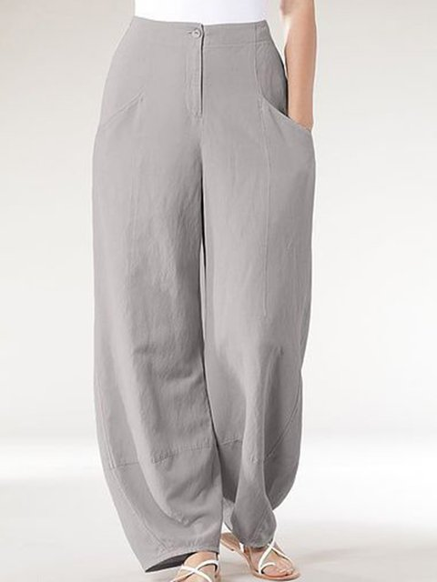 Cotton Pockets Solid Holiday Pants