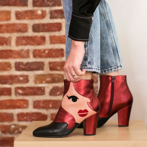 Women Pu Chunky Heel Casual Boots