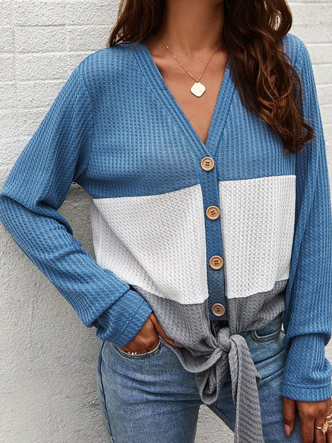 Casual Knitted Long Sleeve Knitted Shirts