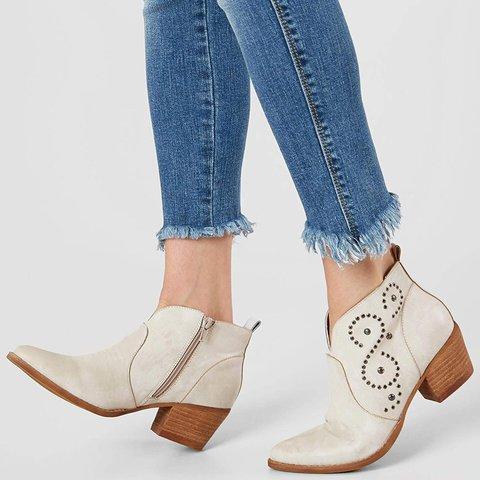 Women  Fall  Zipper Slip-On Ankle Boots
