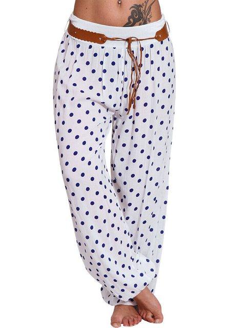 Plus Size Polka Dots Loose Fit Women Haren Pants