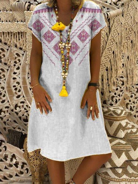 Bohemian Printed Holiday Dress