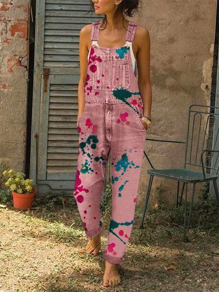Casual Printed Rompers & Jumpsuit