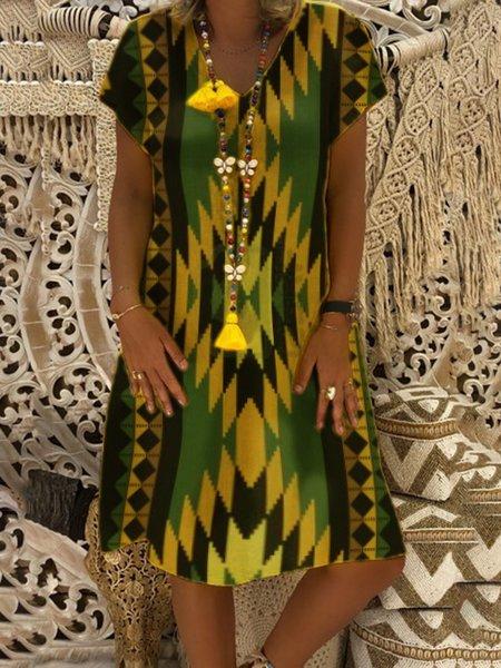 Geometric Printed Mini Dress
