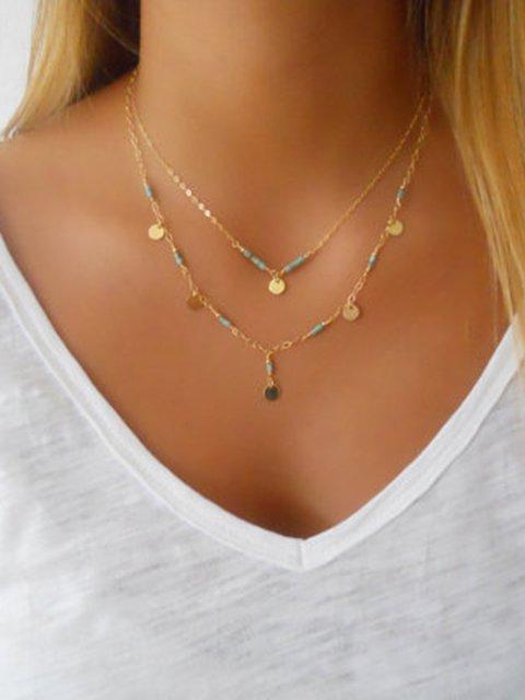 Women Double Layers Golden Necklaces