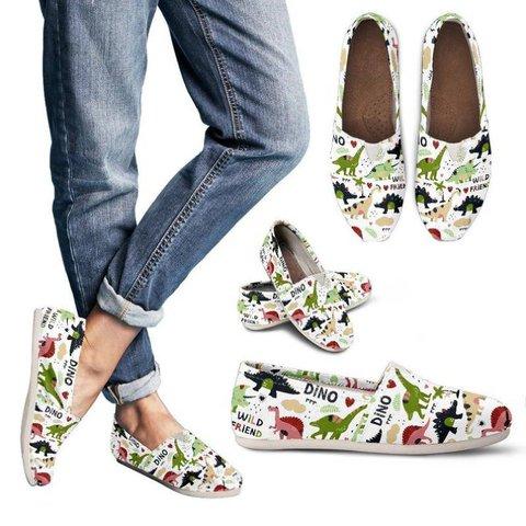 Women Dinosaur Comfy Canvas Sneaker Shoes