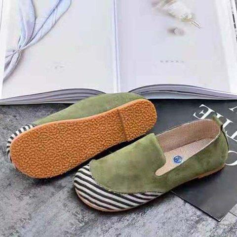 Round Toe Slide PU All Season Flat Heel Women Loafers
