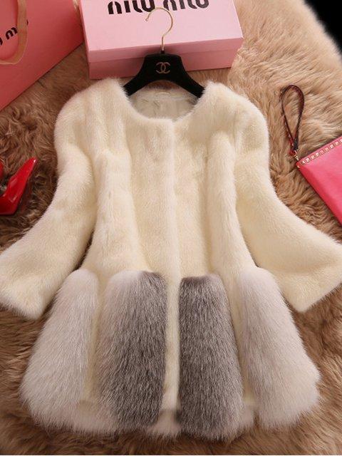 Women Faux Fur Elegant Winter Coats