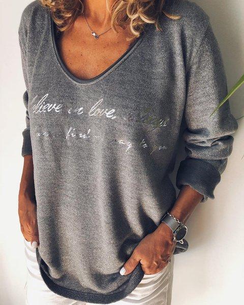 Grey Cotton Printed Casual Shirts & Tops