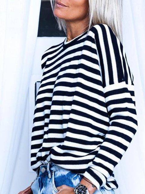 Stripes Long Sleeve Shirts & Tops
