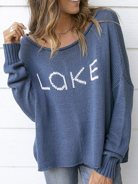 Round Neck Long Sleeve Sweet Sweaters