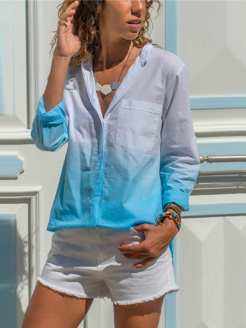 Casual Shirt Collar Shirts & Tops