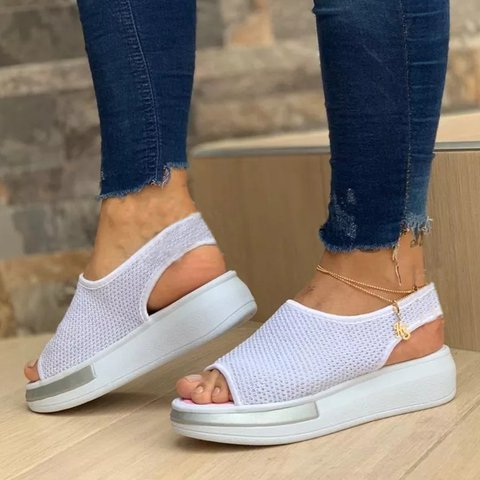 Sports Sandal For Lady Fashion Platform Slip-On Hollow-out Sandals